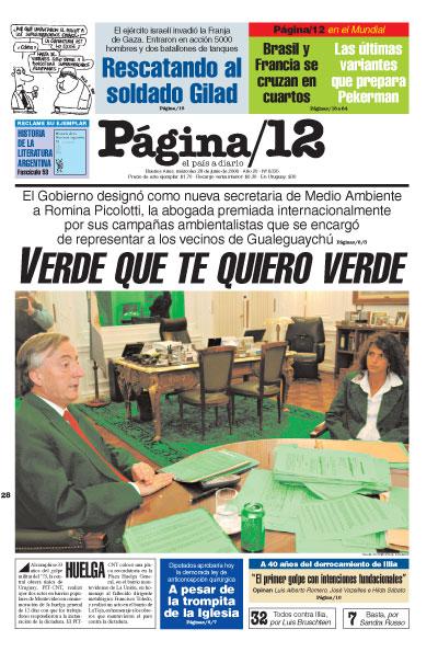 Tapa de la fecha 28-06-2006