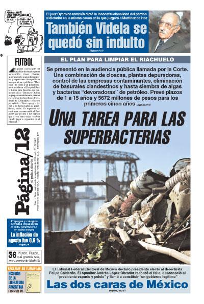 Tapa de la fecha 06-09-2006