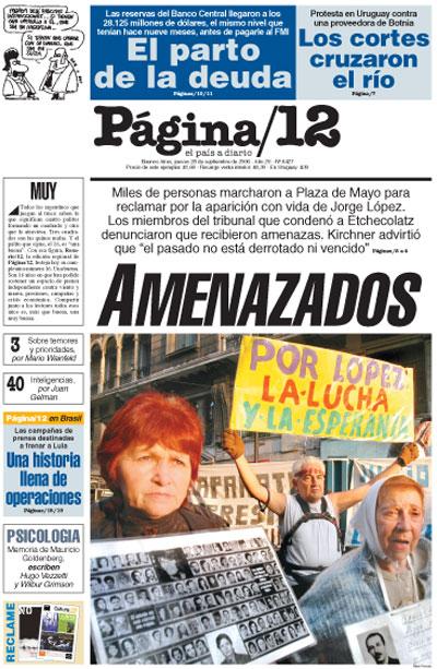 Tapa de la fecha 28-09-2006