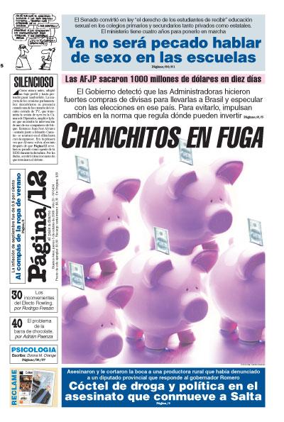 Tapa de la fecha 05-10-2006