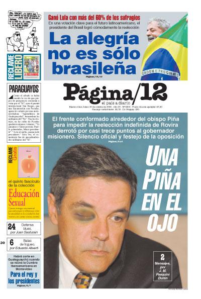 Tapa de la fecha 30-10-2006