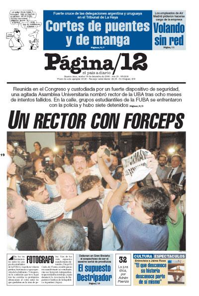 Tapa de la fecha 19-12-2006