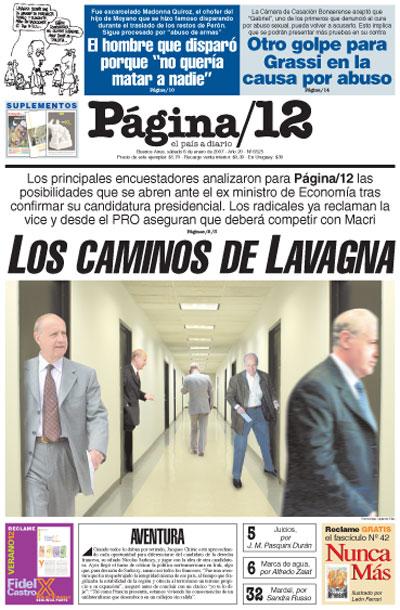 Tapa de la fecha 06-01-2007