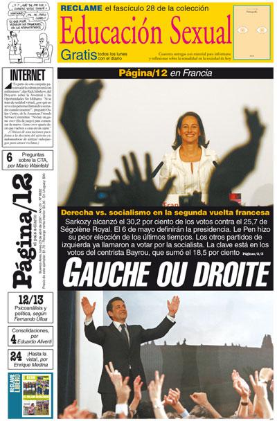 Tapa de la fecha 23-04-2007
