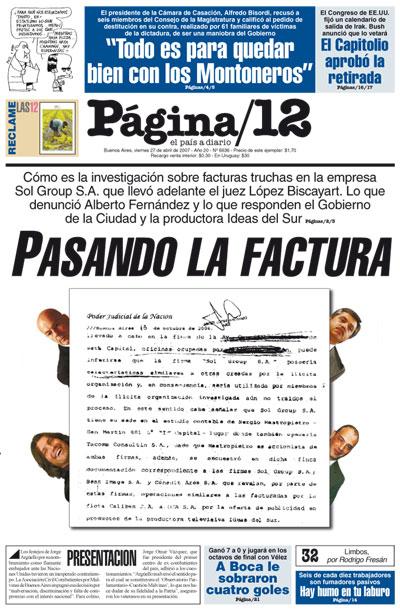 Tapa de la fecha 27-04-2007
