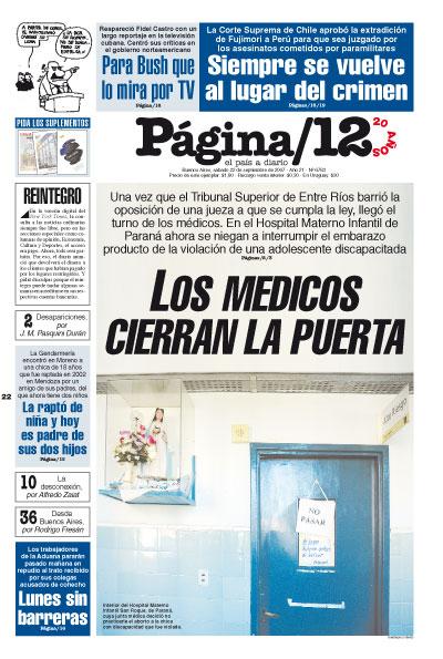 Tapa de la fecha 22-09-2007