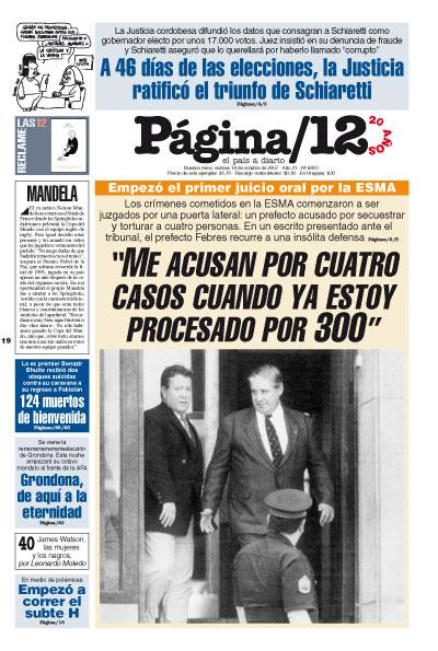 Tapa de la fecha 19-10-2007