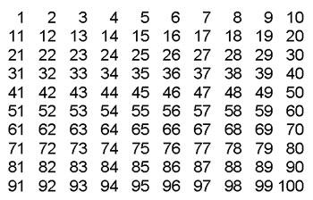 Printables 1 Al 100 numeros en espanol 1 100 related keywords suggestions 12 contratapa criba de