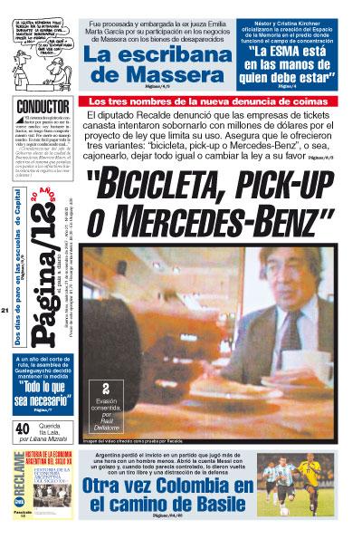 Tapa de la fecha 21-11-2007