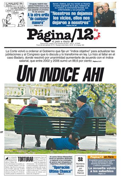 Tapa de la fecha 27-11-2007