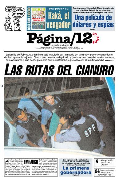 Tapa de la fecha 17-12-2007