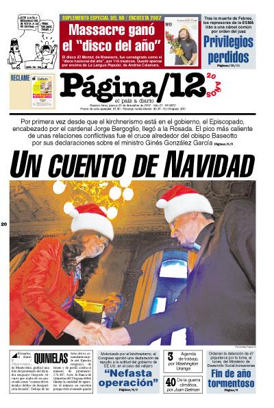 Tapa de la fecha 20-12-2007