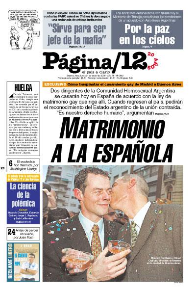 Tapa de la fecha 21-01-2008