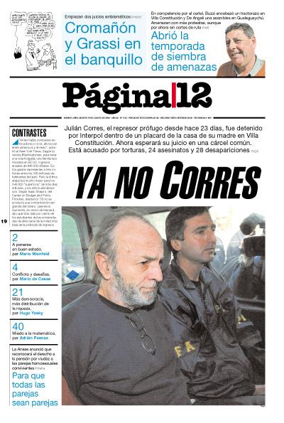 Tapa de la fecha 19-08-2008