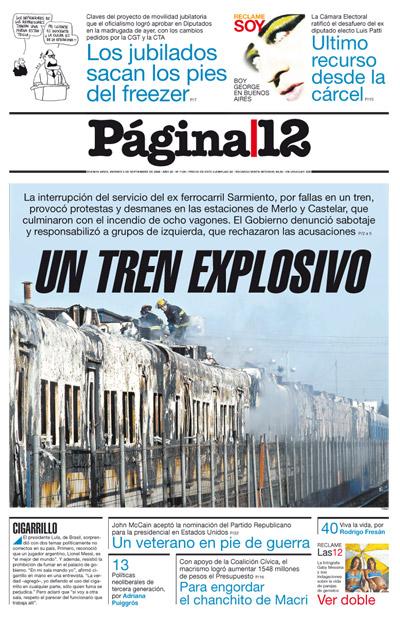 Tapa de la fecha 05-09-2008