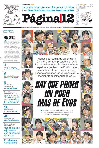 Tapa de la fecha 14-09-2008