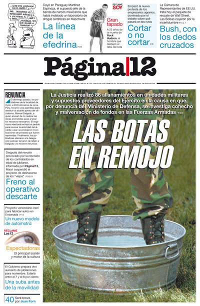 Tapa de la fecha 03-10-2008