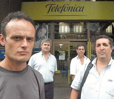 trabajadores de telefonica de argentina