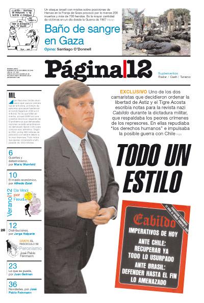 Tapa de la fecha 28-12-2008