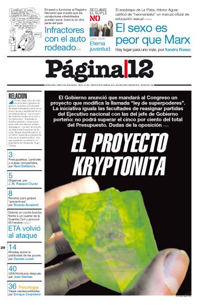 Tapa de la fecha 30-07-2009