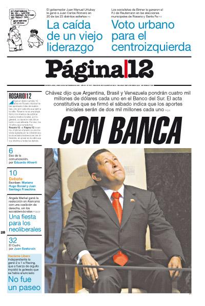 Tapa de la fecha 28-09-2009