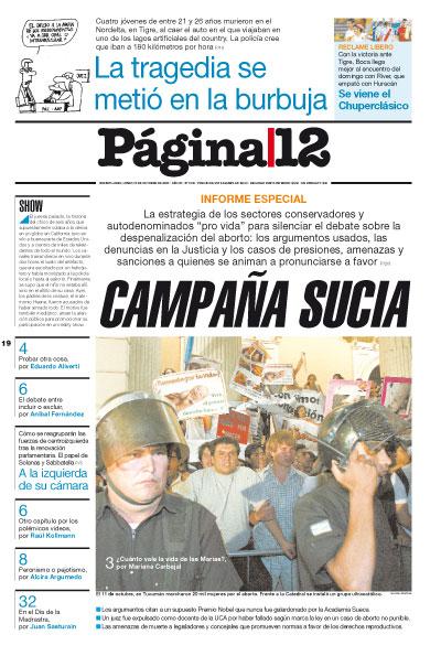 Tapa de la fecha 19-10-2009