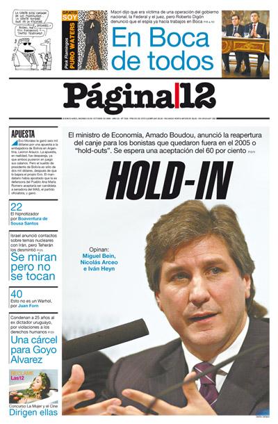 Tapa de la fecha 23-10-2009