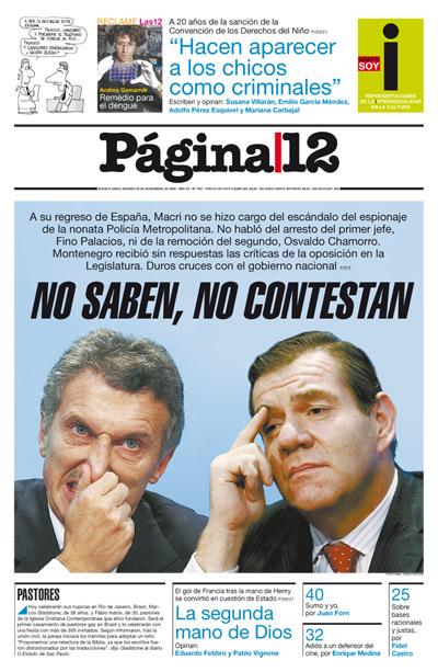 Tapa de la fecha 20-11-2009