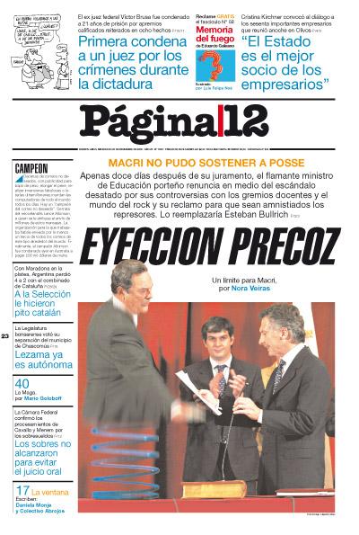 Tapa de la fecha 23-12-2009