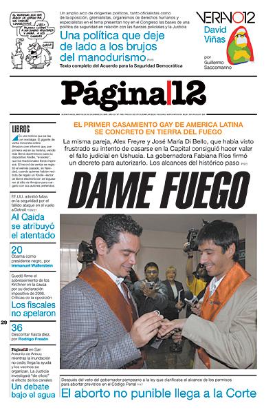 Tapa de la fecha 29-12-2009