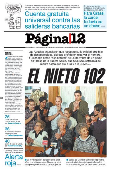 Tapa de la fecha 21-09-2010