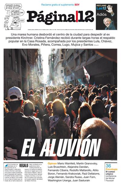 Tapa de la fecha 29-10-2010