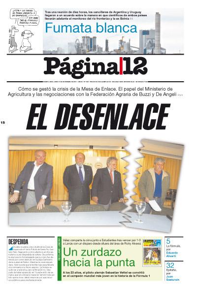 Tapa de la fecha 15-11-2010