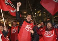 Protesta en Portugal contra las medidas de ajuste decididas por el premier socialista José Sócrates.