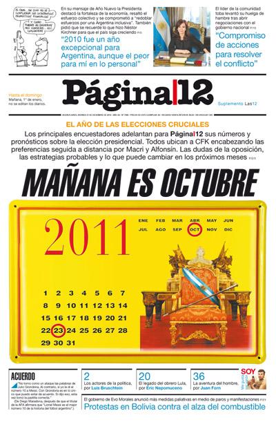 Tapa de la fecha 31-12-2010