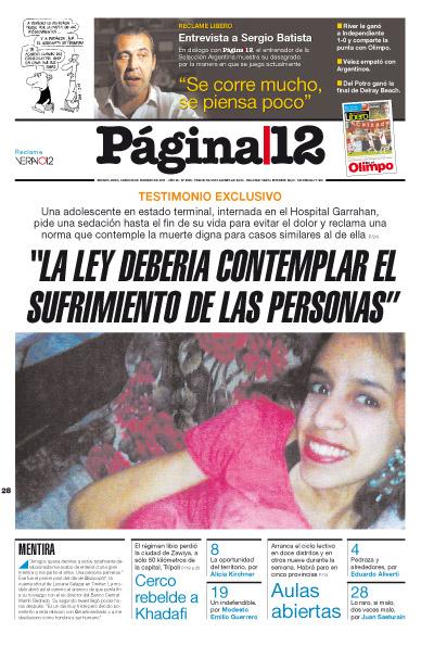 Tapa de la fecha 28-02-2011