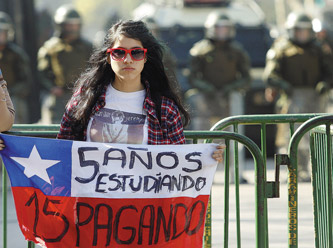 Chile, protestas estudiantiles