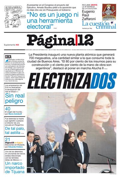Tapa de la fecha 29-09-2011