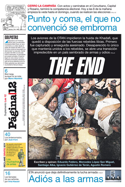 Tapa de la fecha 21-10-2011