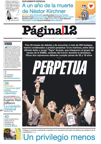 Tapa de la fecha 27-10-2011