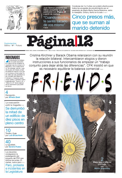 Tapa de la fecha 05-11-2011