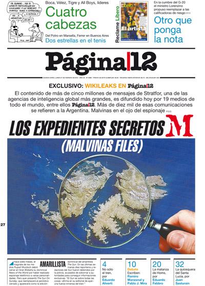 Tapa de la fecha 27-02-2012