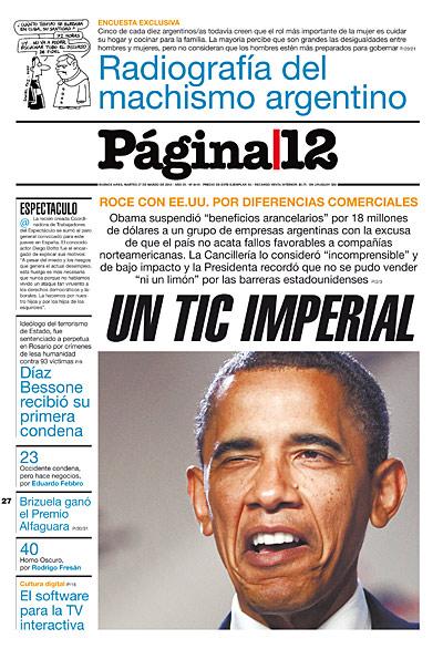 Tapa de la fecha 27-03-2012