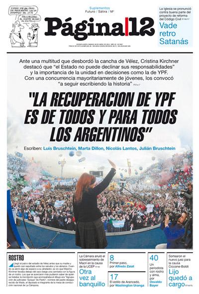 Tapa de la fecha 28-04-2012