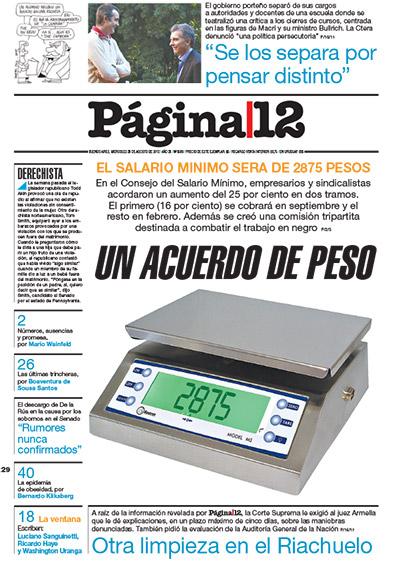 Tapa de la fecha 29-08-2012