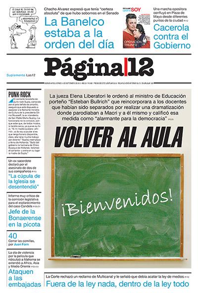 Tapa de la fecha 14-09-2012