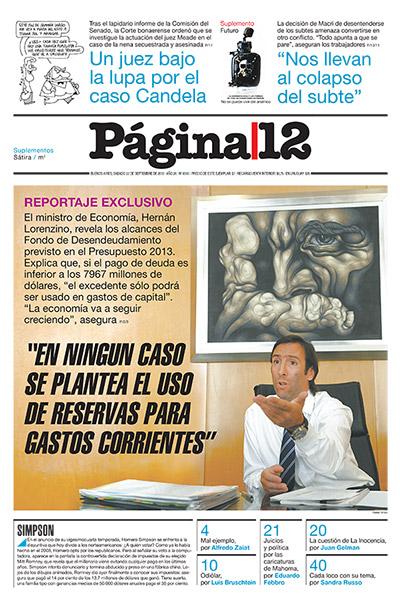 Tapa de la fecha 22-09-2012