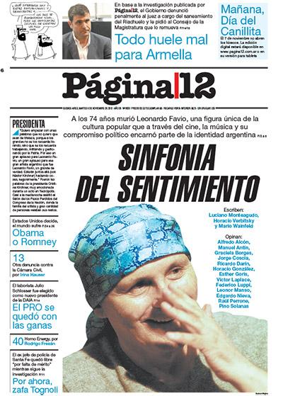 Tapa de la fecha 06-11-2012