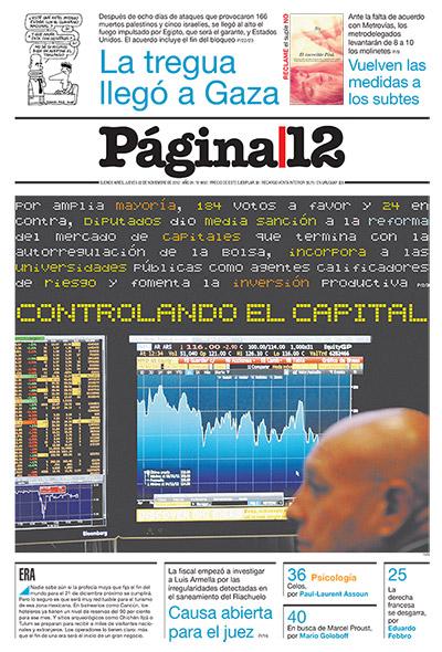 Tapa de la fecha 22-11-2012