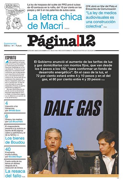 Tapa de la fecha 24-11-2012
